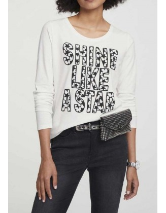 """Balti marškinėliai """"Star"""""""