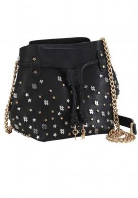 Bag with rivets, black