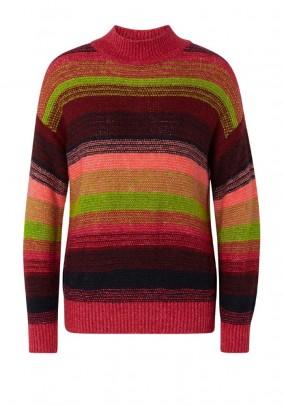 Striped sweater, multicolour