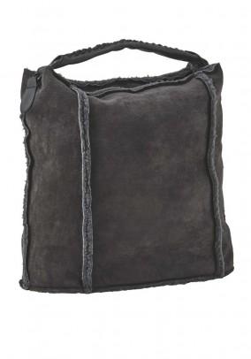 Fur imitation bag, grey