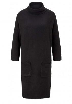 Knit dress, black