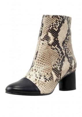 Rudi odiniai gyvatės rašto batai