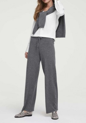Wool trousers with cashmere, grey blend