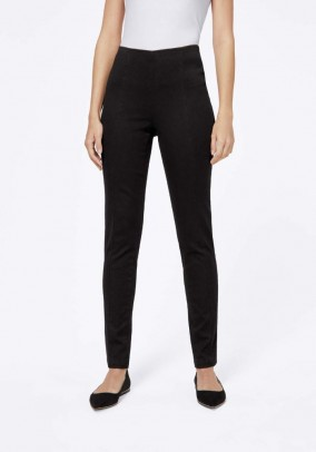 Stretch trousers, black