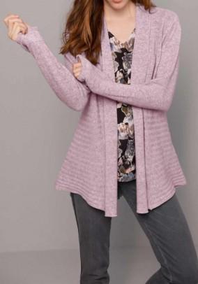 Cashmere cardigan, rose-blend