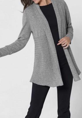 Cashmere cardigan, grey blend