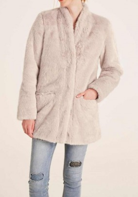 Faux fur jacket, cream