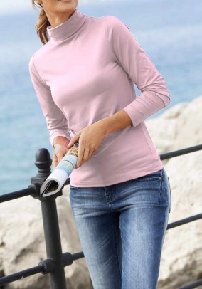 Turtleneck sweater, rose