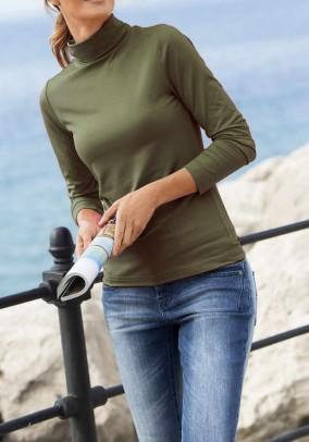 Turtleneck sweater, olive