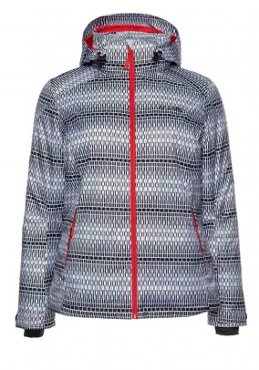 Skiing jacket, black-white
