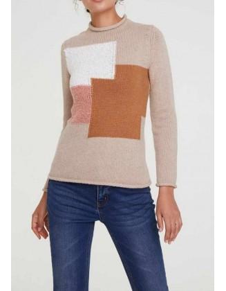 Rudas vilnonis megztinis