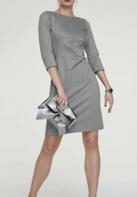 Jersey dress, grey