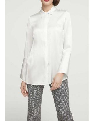 Balti šilkiniai marškiniai