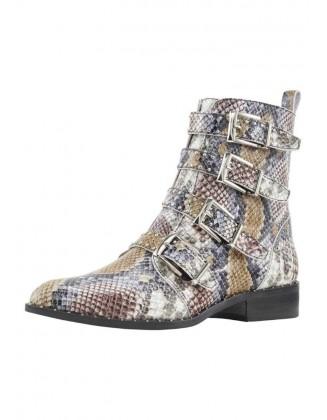 Margi gyvatės rašto batai