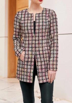 Long blazer, multicolour