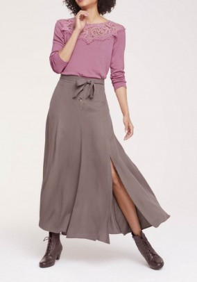 Maxi ilgio rudas sijonas