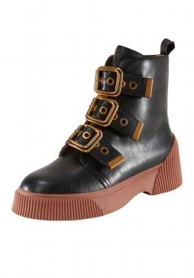 Brand booties, black
