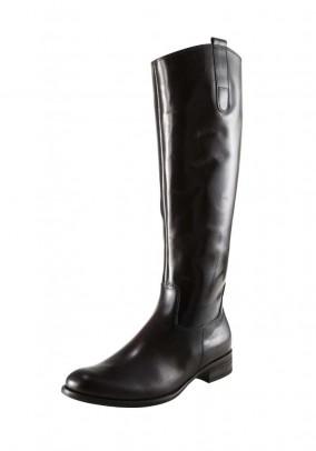 Leather boots, dark brown