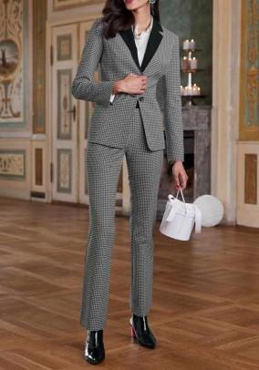 Women's suit, black-white
