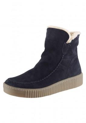 Velour boots, navy