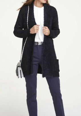 Cardigan with sequins, midnight blue