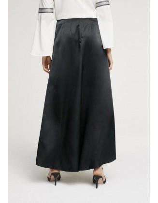 Ilgas juodas satino sijonas