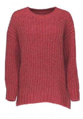 Raudonas Herrlicher megztinis su vilna