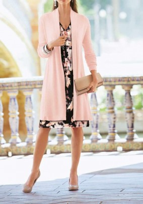Knit coat, rose