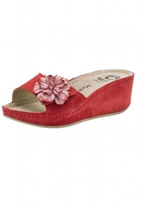 Velours slipper, red