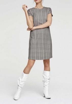 Jersey dress, offwhite-black