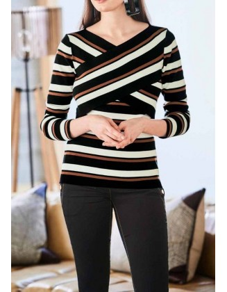"Kontrastingas megztinis ""Cappucino"""