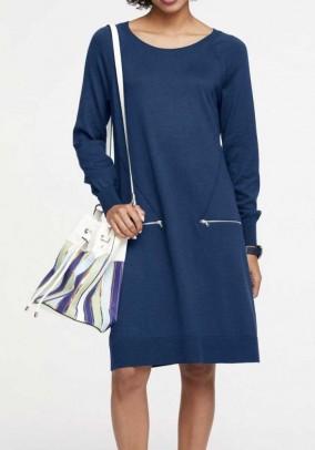 """Megzta mėlyna suknelė """"Zip"""""""
