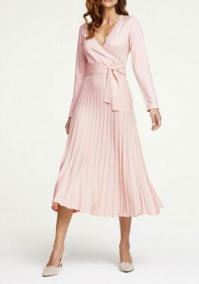 Fine knit dress, soft rose