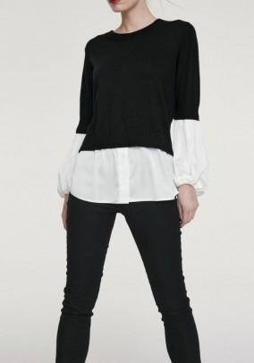 Juodas megztinis su kašmyru