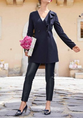 Long blazer, navy