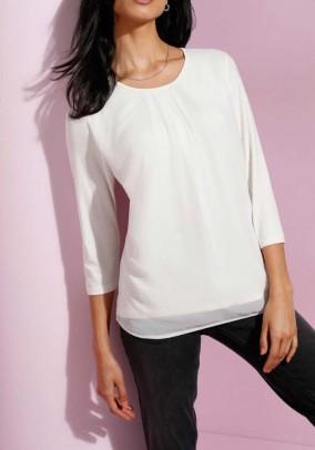 Blouse shirt, wool white