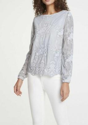Lace shirt, soft blue-grey