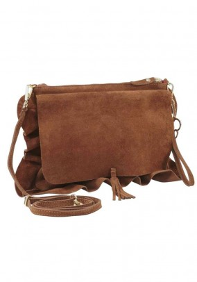 Velours bag, cognac