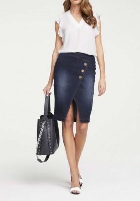 Denim skirt, dark blue