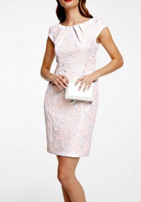 Sheath dress, light rose -silver coloured