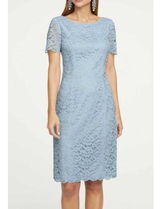 Melsva nėriniuota suknelė
