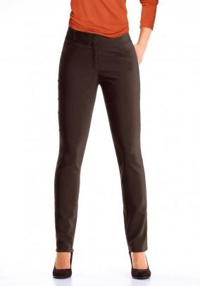 Stretch trousers, dark brown