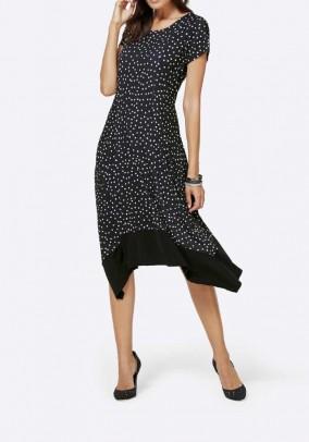 Taškuota midi suknelė