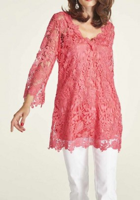 Lace tunic and top, lobster