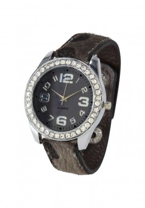 Women's watch, grey-silver coloured
