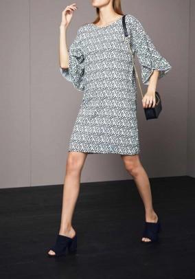 Laisvo stiliaus taškuota suknelė