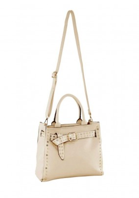 Hand bag and shoulder bag, beige