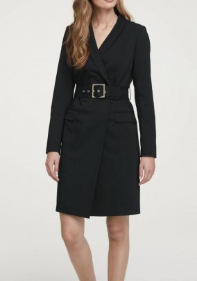 Coat dress, black