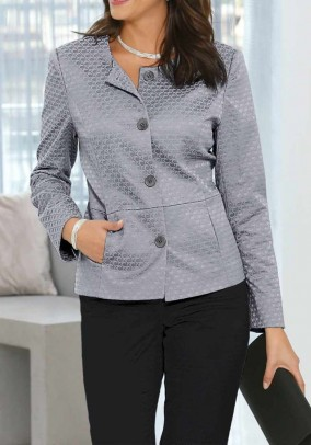 Jacquard blazer, silver grey