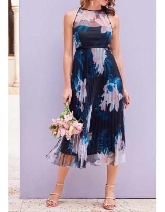 Puošni klostuota suknelė